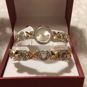 matching bracelet and watch set
